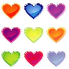 Free Jelly Hearts Royalty Free Stock Photo - 20129605