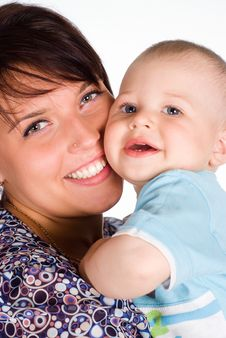 Free Mom With Baby Stock Photography - 20129652