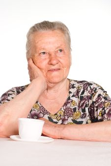 Free Granny At Table Stock Photography - 20129662