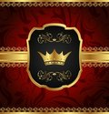 Free Golden Vintage Frame With Crown Royalty Free Stock Images - 20131209
