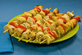 Free Baked Chicken Skewers Royalty Free Stock Photos - 20135838