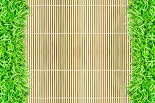 Free Grass Frame On Bamboo Background Royalty Free Stock Photo - 20130355