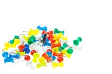 Free Isolated Colorful Pushpins Royalty Free Stock Photos - 20130648
