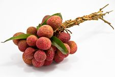 Free Fresh Lychees Isolated On White Stock Images - 20130794