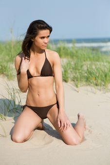 Beautiful Bikini At The Dunes Stock Photography