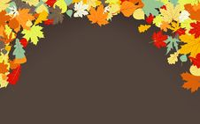 Free Brown Autumnal Background. EPS 8 Royalty Free Stock Photography - 20131657