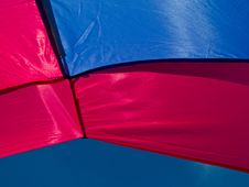Free Clear Blue Sky Seen From A Tent Stock Photography - 20132832