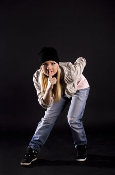 Free Modern Dance. Hip-hop. Royalty Free Stock Images - 20132899