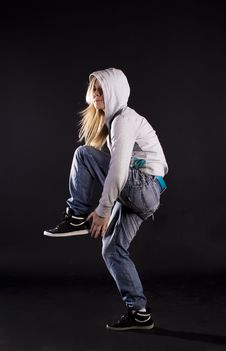 Free Modern Dance. Hip-hop. Stock Photo - 20132910