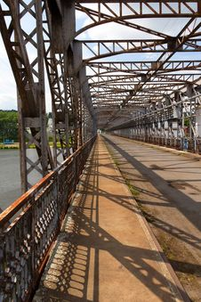 Free Old Riveted Steel Bridge Across The Elbe Stock Image - 20133031