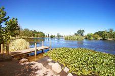 Lake And Gardens Stock Image