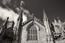 Free Monochrome Church Stock Photo - 20134110