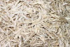 Dried Salted Fishes Stock Photography