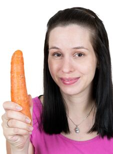 Free The Girl With Carrot Stock Photography - 20135422