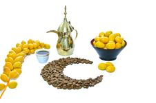 Free Arabic Coffee With Date Fruit Stock Image - 20136121
