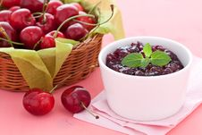 Free Cherry Jam Stock Photos - 20136373