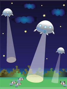 Free UFO Illustration Stock Images - 20136494