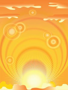 Free Orange Background Royalty Free Stock Image - 20136586