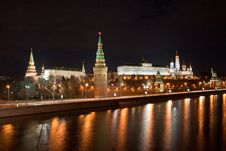 Free Moscow Kremlin At Night Royalty Free Stock Photos - 20136738