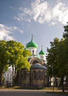 Free Church With Green Dome Stock Image - 20136911