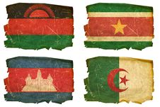 Free Set Flags Old  45 Royalty Free Stock Photography - 20137407