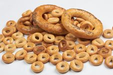 Free A Lot Of Delicious Bagels. Royalty Free Stock Image - 20137666