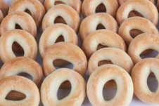 A Lot Of Delicious Bagels. Stock Photography