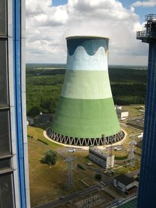 Free Cooling Towers In Power Plant Royalty Free Stock Photography - 20137857