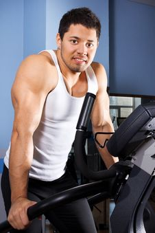 Free Man On Treadmill Royalty Free Stock Image - 20137906