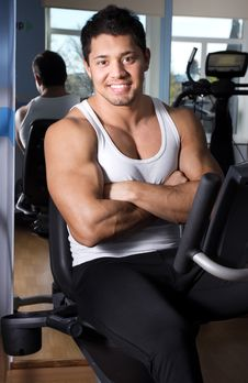 Free Handsome Man In Gym Room Royalty Free Stock Images - 20137949