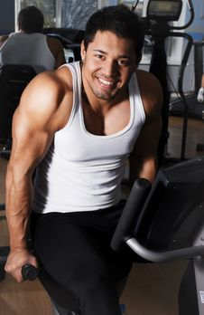 Happy Man In Gym Room Stock Photography