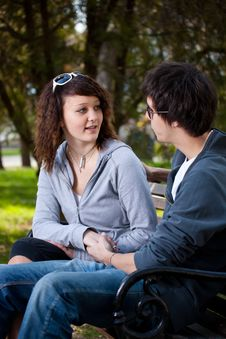 Free Couple In Park Royalty Free Stock Photography - 20138267
