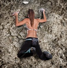 Free Athletic Girl Climbing Royalty Free Stock Photography - 20138427