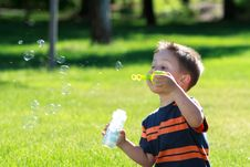 Free Boy With Bubbles Royalty Free Stock Images - 20138919