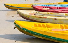Free Old Colorful Kayaks Royalty Free Stock Photo - 20139395