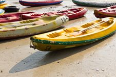 Free Old Colorful Kayaks Royalty Free Stock Photography - 20139417