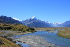 Free Tasman River, Mt Cook Royalty Free Stock Photos - 20139828