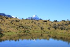 Free Mt Cook Over Pond Stock Images - 20139834