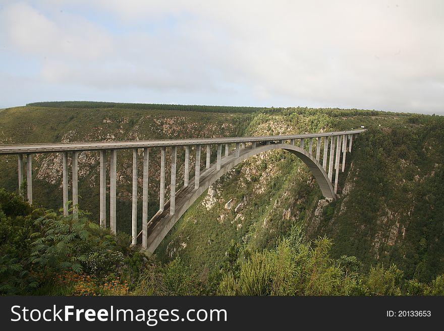 Bridge over canyon