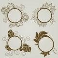 Free Vector Set Of Vintage Frames Stock Images - 20142414