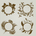 Free Vector Set Of Vintage Frames Royalty Free Stock Photo - 20142415