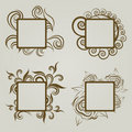 Free Vector Set Of Vintage Frames Royalty Free Stock Photography - 20142417