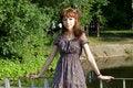Free Girl Walking Outdoor Royalty Free Stock Photo - 20143005