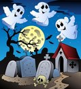 Free Halloween Scenery With Cemetery 2 Royalty Free Stock Photography - 20146327