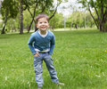 Free Portrait Of A Little Boy Outdoors Stock Image - 20147361