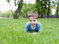Free Portrait Of A Little Boy Outdoors Stock Images - 20147374
