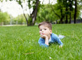 Free Portrait Of A Little Boy Outdoors Stock Photography - 20147382