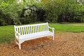 Free White Park Bench Stock Images - 20147964