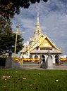 Free White Church In Thai Temple Royalty Free Stock Photo - 20149075