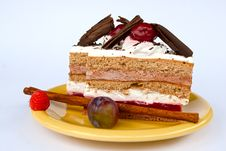 Free Hungarian Black Forest Cake Royalty Free Stock Image - 20140116